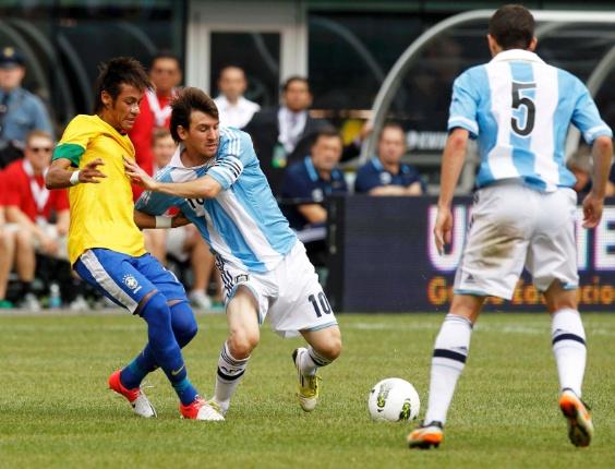A Argentina venceu o Brasil por 4 a 3 com uma atuação de craque de Lionel  Messi. Após o jogo c1562081b33e6