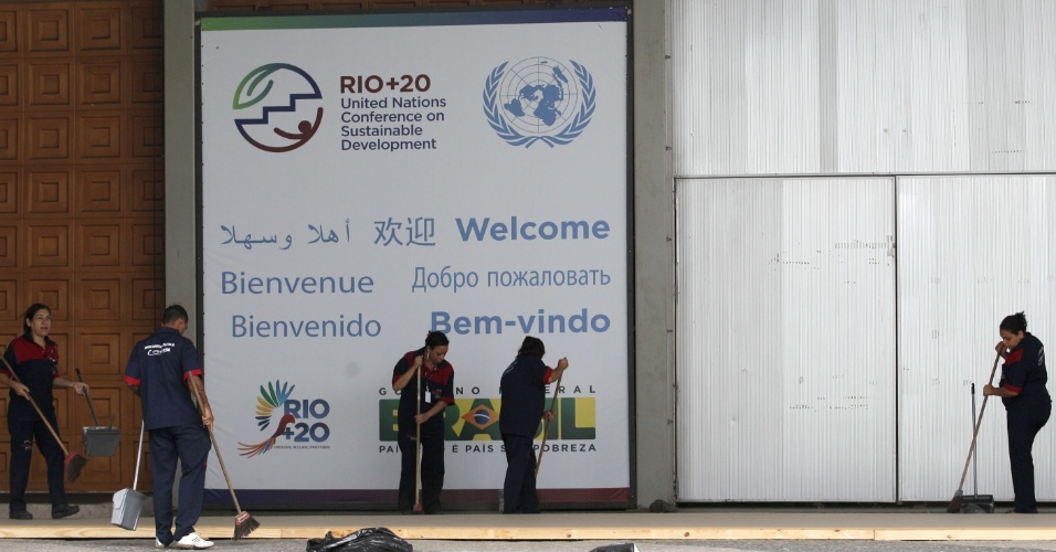 Preparativos finais no Riocentro