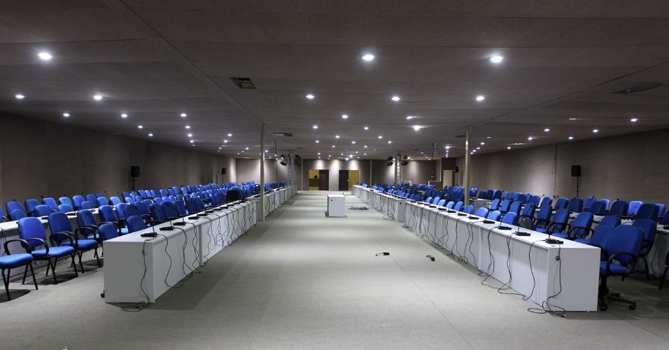 Sala de debates no Riocentro