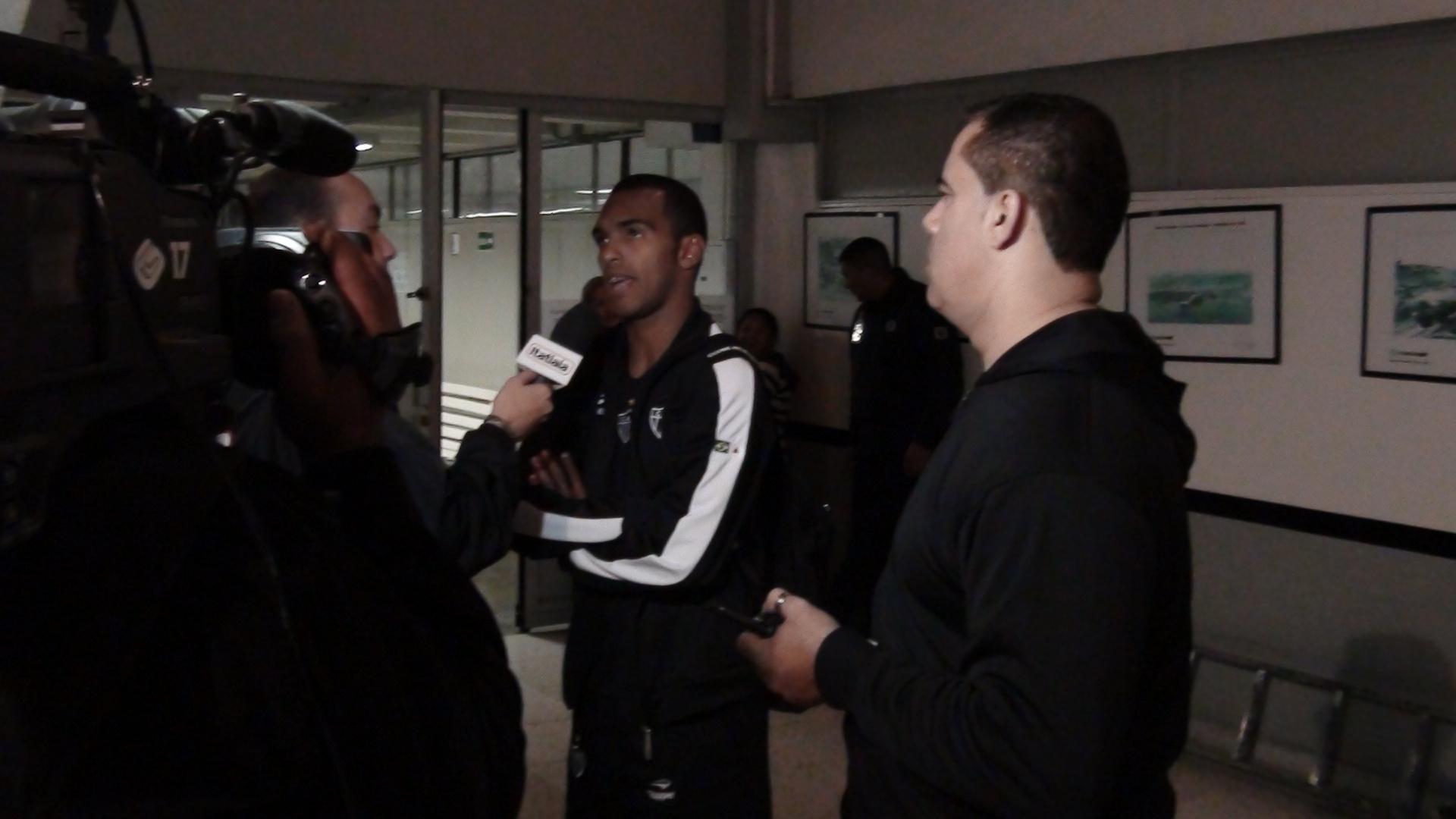 Richarlyson concede entrevista após vitória do Atlético-MG sobre o Palmeiras