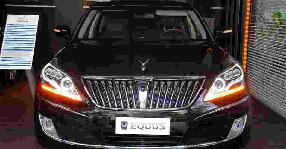 Apresentado ao brasileiro durante o Salão do Automóvel de São Paulo, em 2010, Hyundai Equus é sedã grande de luxo de R$ 320 mil - Murilo Góes/UOL