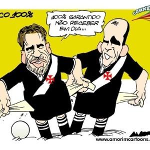Corneta FC: Sem receber, Vasco segue 100%