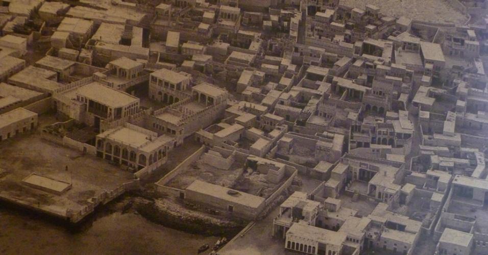 Foto mostra como era o centro de Doha na década de 40. Na década seguinte ele foi reconstruído