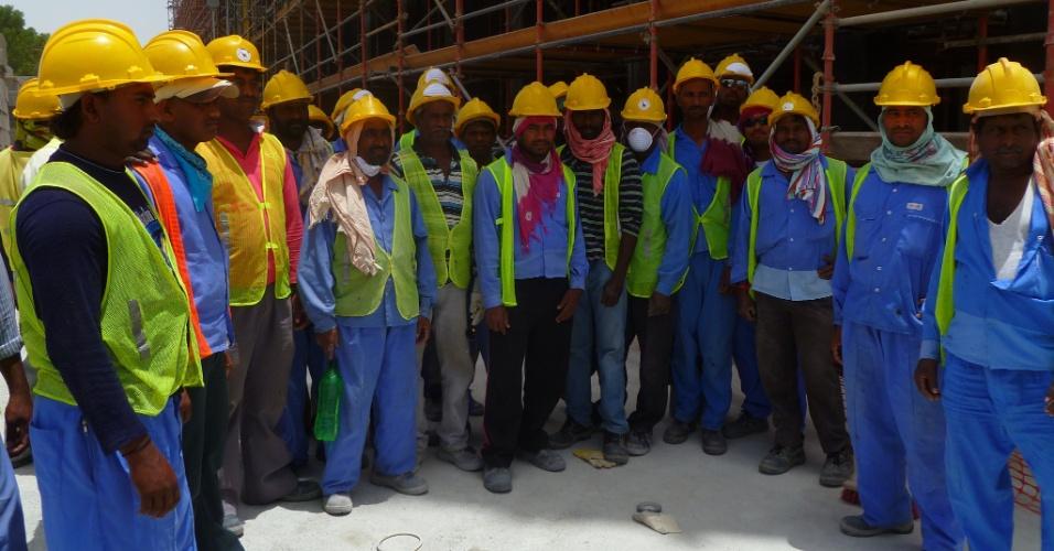 Msheireb,- Hoje, apenas com a fase 1 de 4, a obra conta com 6 mil trabalhadores, mas quando todas as etapas estiverem em ação serão mais de 20 mil. Eles vêm em sua maioria da Índia, Paquistão e Filipinas