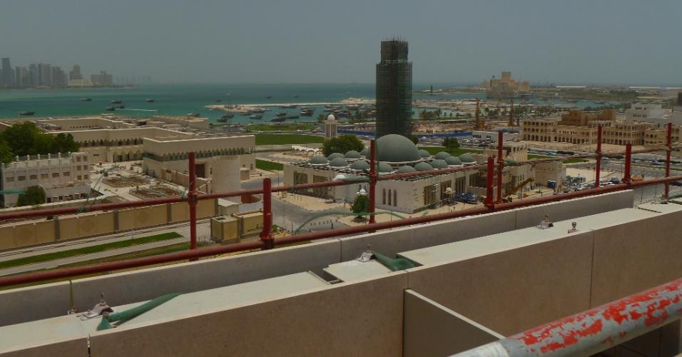 Msheireb,Toda a arquitetura do Msheireb é feita para aproveitar o vento que vem do mar para refrescar os prédios e ruas