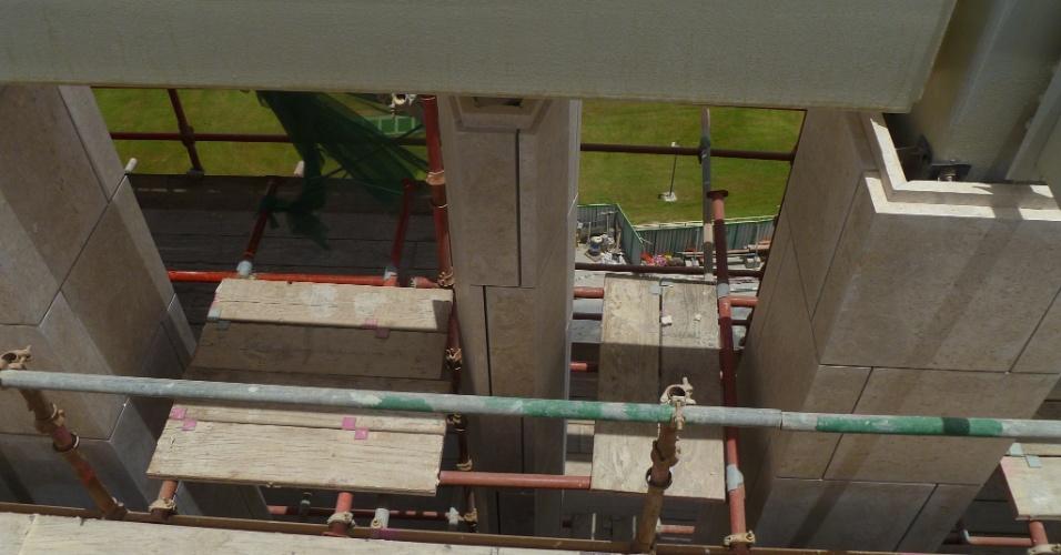 Msheireb,Varandas em camadas criam maior sombra e circulação de ar para os andares