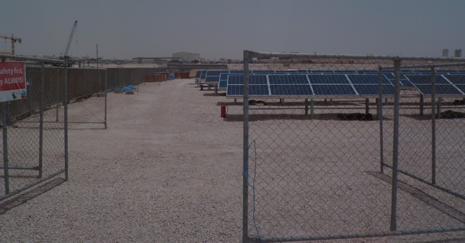 Projeto de Chevron de energia solar no Qatar