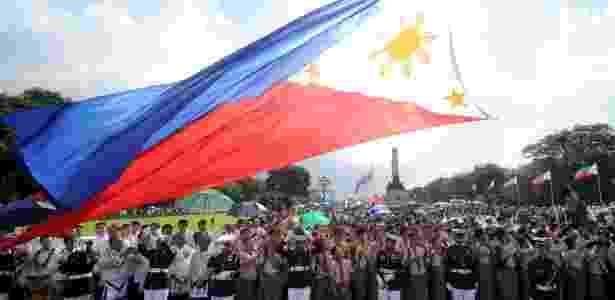 Bandeira Filipinas - AFP - AFP