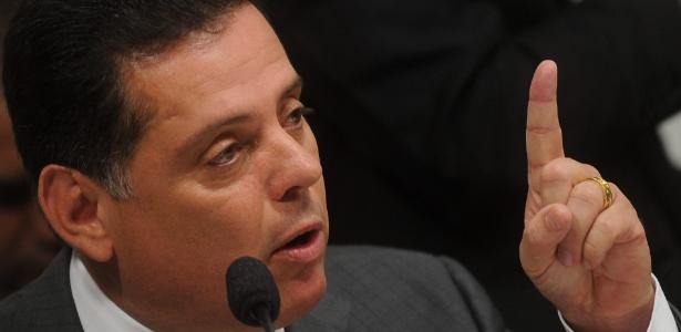 12.jun.2012 - O governador de Goiás, Marconi Perillo (PSDB), depõe na CPI do Cachoeira, em Brasília