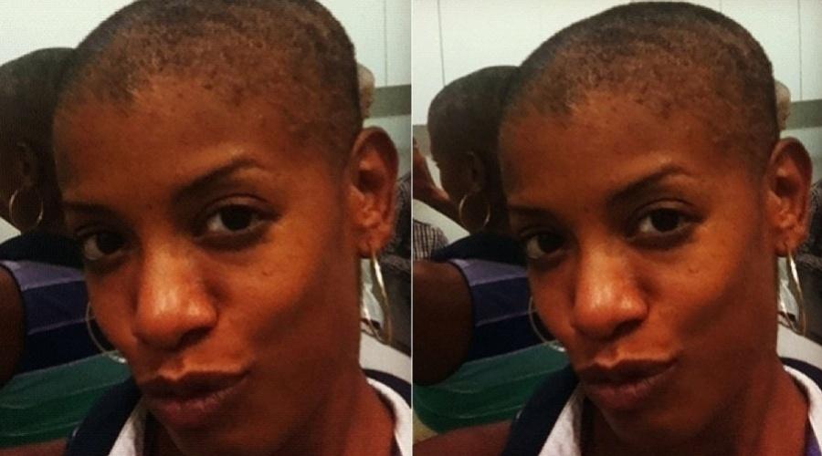 """A atriz e cantora Thalma de Freitas decidiu raspar os cabelos para o espetáculo teatral """"Adeus à Carne"""" (12/6/12)"""