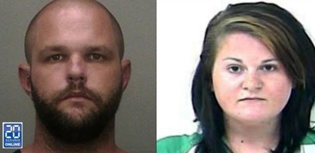 James Ayers, 32, e Nicole Okrzesik, 23, acusados de estrangular e matar uma jovem de 19 anos - Reprodução/20 Minutes Online