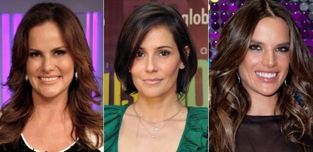 O corte feito em camadas deixa o cabelo mais leve para penteados com movimento - Divulgação/Rede Globo e Getty Images