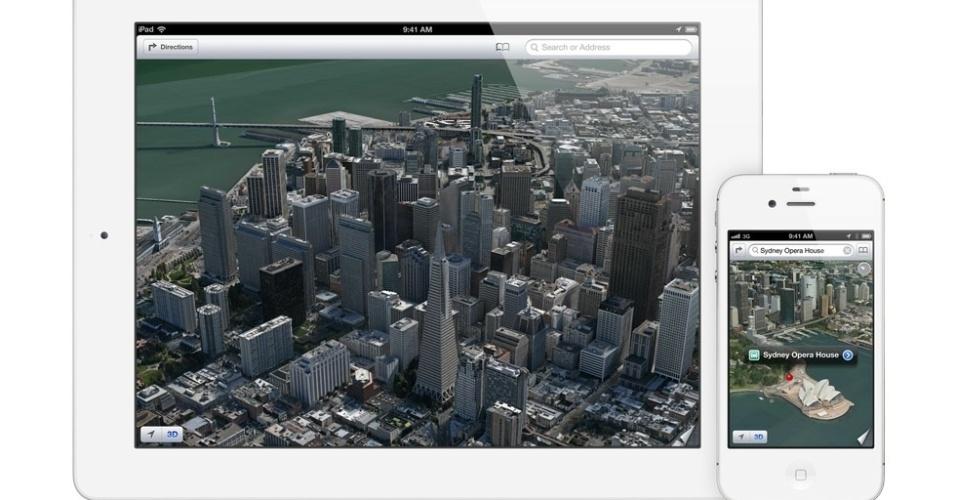 Recursos do iOS 6 - Apple Mapas