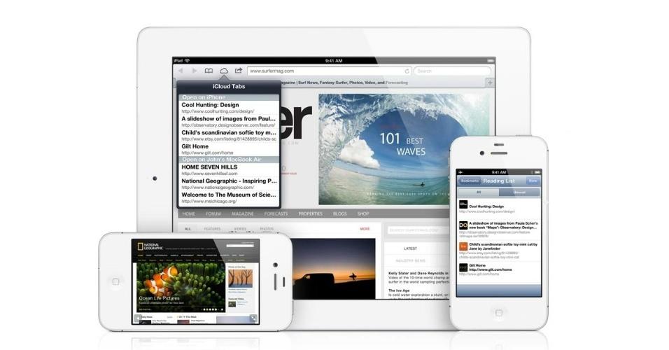 Recursos do iOS 6 - iCloud tabs