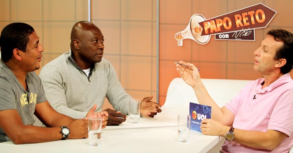 Rincón e Vampeta são entrevistado por Neto no