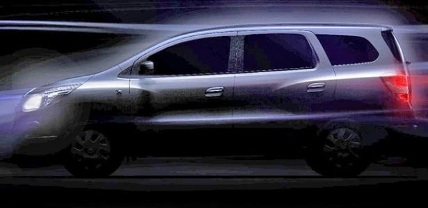 Chevrolet divulgou o primeiro teaser oficial da Spin, que finalmente teve o nome confirmado - Divulgação