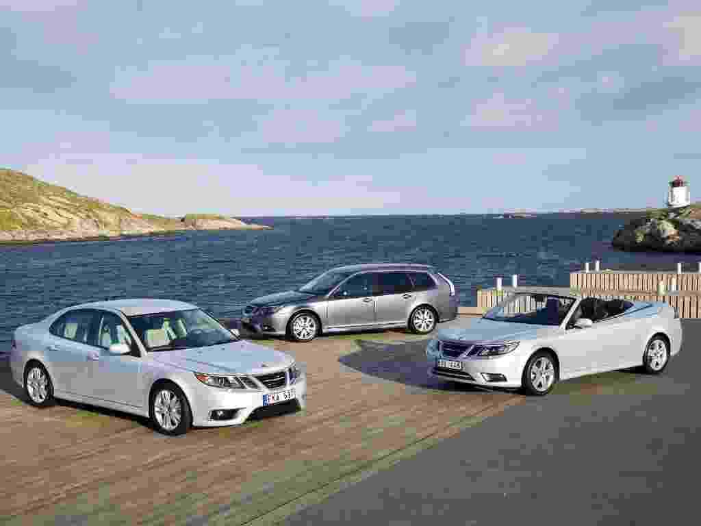 Saab 9-3, último modelo rentável da marca sueca, servirá de base para carro elétrico que marcará renascimento da empresa em 2014. Fabricado sobre plataforma da GM que também originou Astra, Malibu e Insignia, o 9-3 já teve configurações sedã, perua e conversível e também um protótipo elétrico - Divulgação