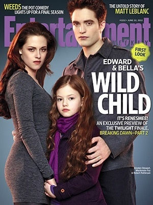 Bella, Edward e a filha do casal, Renesmee