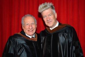 Mel Brooks e David Lynch receberam nesta quarta-feira (13) títulos de honra da AFI, em Los Angeles, nos Estados Unidos