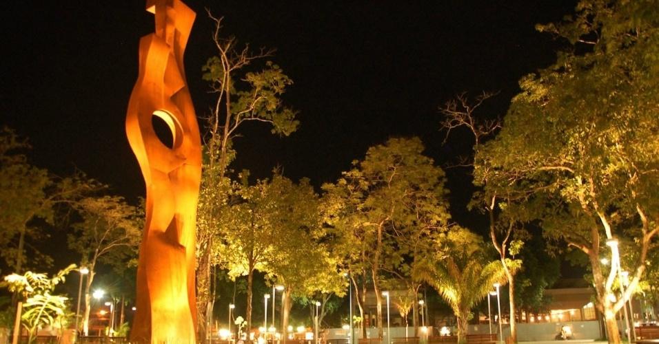 Praça da Revolução, em Rio Branco (AC)