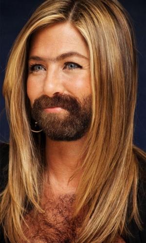 Colocar barba e peito peludo... nas mulheres - Para deixar beldades feias, nada como acrescentar digitalmente uma barba bem grossa e volumosa, além de deixá-las com o peito ''cabeludo''. De barba, a atriz Jennifer Aniston lembra um pouco Brad Pitt... seu ex-marido