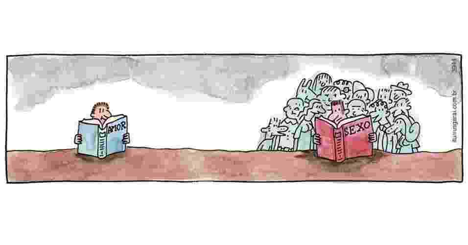 """Ilustração 1 de Adão Iturrusgarai para o livro """"Tudo o que Você Não Queria Saber sobre Sexo"""" - Adão Iturrusgarai/Divulgação"""