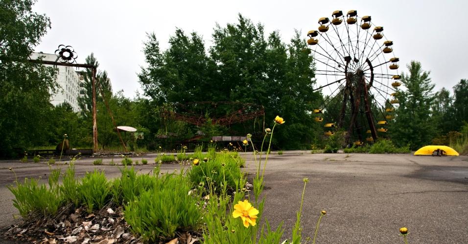 Montanha russa foi abandonada em Pripyat após desastre nuclear