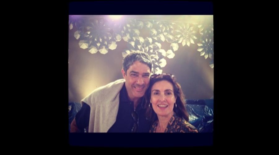 William Bonner visitou a esposa, a jornalista Fátima Bernardes no Projac, complexo de estúdios da Rede Globo (15/6/12)