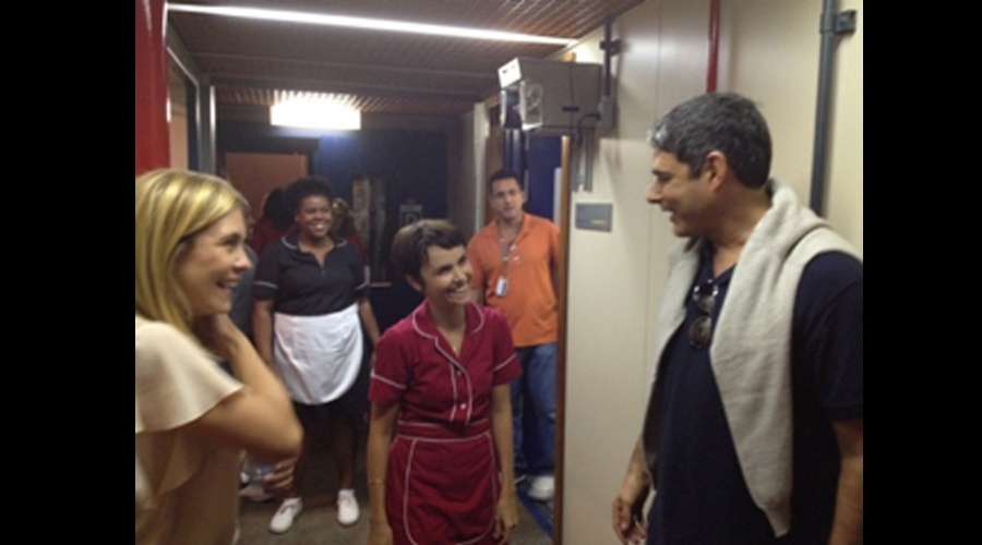 "William Bonner visitou os bastidores da novela ""Avenida Brasil"" (15/6/12)"