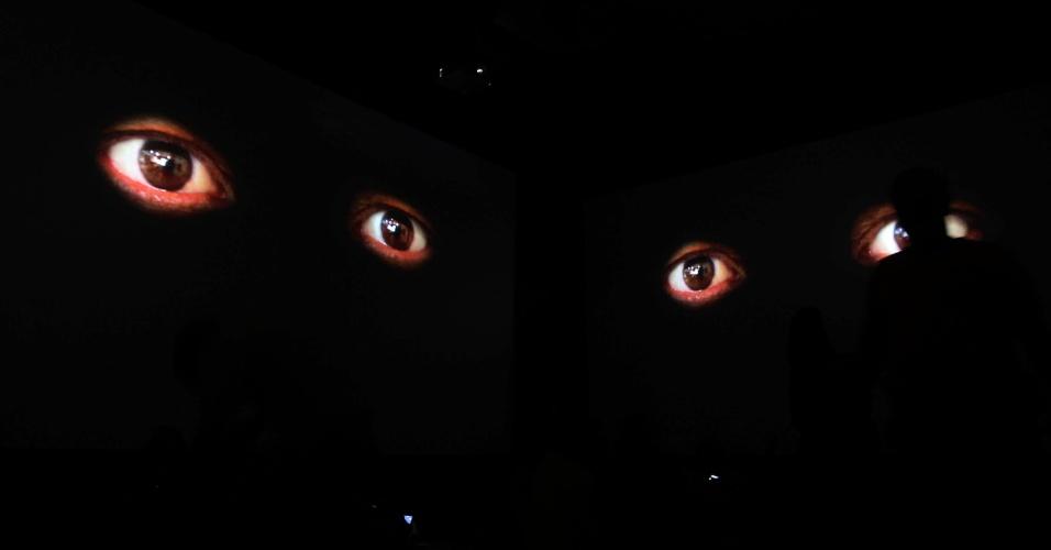 """16.jun.2012 - A vídeo instalação """"Brasil Cerrado"""" exposta no Museu de Arte Moderna (MAM) também é uma das atrações da Cúpula dos Povos. A exposição, feita pelo artista Siron Franco, é gratuita"""