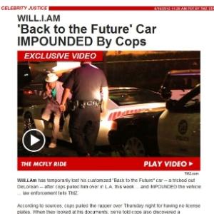 Will.i.am tem carro apreendido pela polícia de Los Angeles