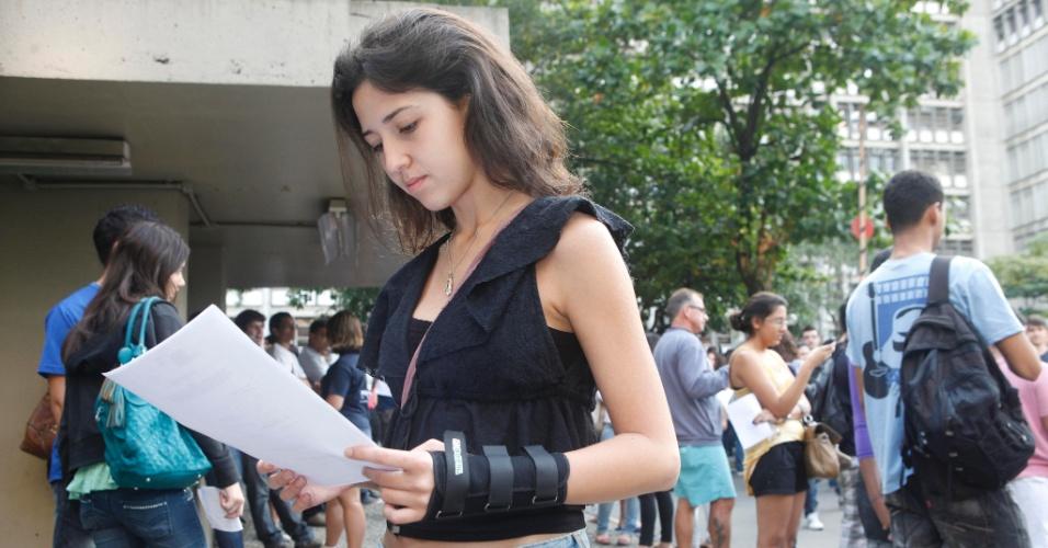A candidata Barbara Mattos, 19, vai tentar uma vaga no curso de direito da Uerj (Universidade do Estado do Rio de Janeiro)