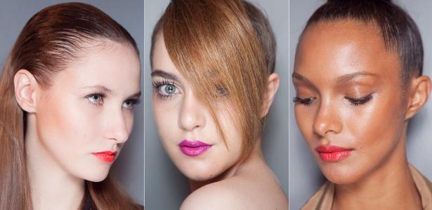 Bocas coloridas e efeito molhado na pele e nos cabelos são tendências para o próximo verão  - Patrícia Araújo/UOL