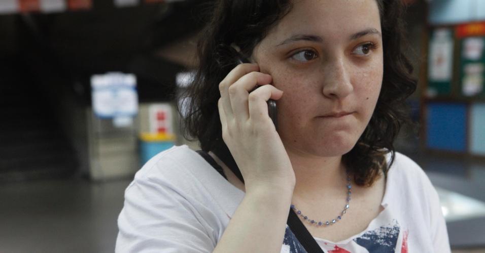 Isadora Giesta, 18, está no 2º ano do ensino médio e fez a prova como treineira