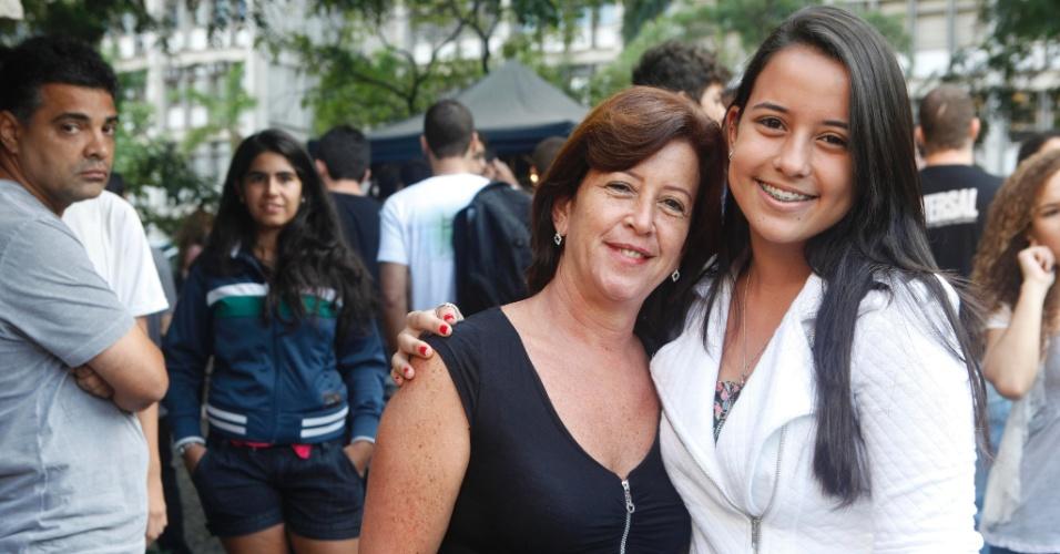 Sandra Oliveira, 50, acompanha a filha Ana Luisa de Oliveira, 17, que faz a prova da Uerj (Universidade do Estado do Rio de Janeiro) e pretende conseguir uma vaga em engenharia