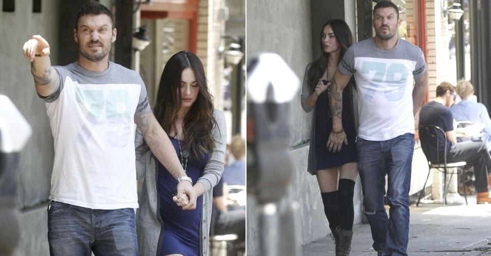 Grávida de seu primeiro filho, Megan Fox é vista com barriga saliente (16/6/12)