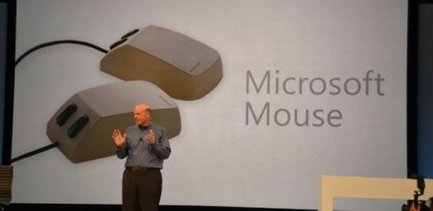 Mouse da Microsoft durante apresentação