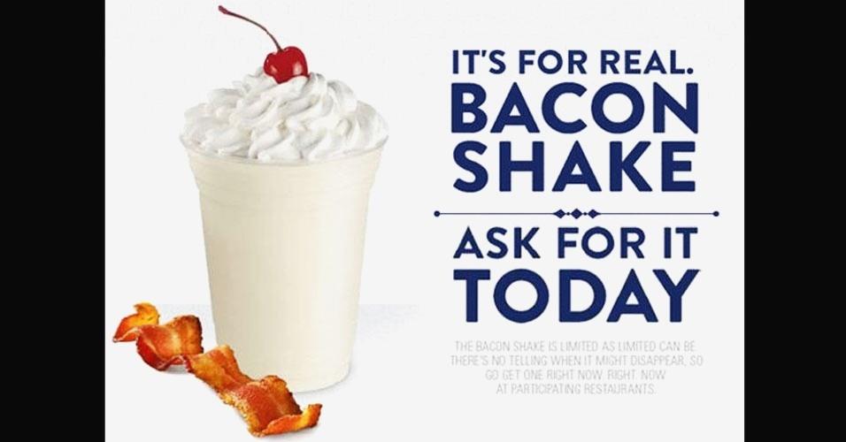 19.jun.2012 - Depois que o sundae de bacon veio à tona, o UOL Tabloide descobriu que a rede de fast food norte-americana Jack in the Box - que tem 2.100 lojas em 19 Estados dos EUA - adicionou o milk-shake de bacon há poucos meses em seu cardápio