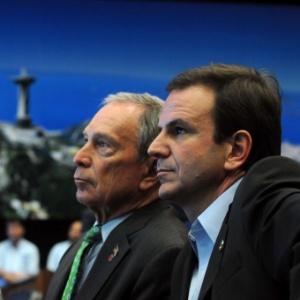 Durante a Conferência Rio+20, o prefeito de Nova York, Michael Bloomberg, conheceu o Centro de Operações da Prefeitura do Rio à convite do chefe do Executivo carioca, Eduardo Paes (PMDB).