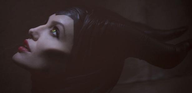 """Angelina Jolie como Malévola no filme """"Maleficent"""""""