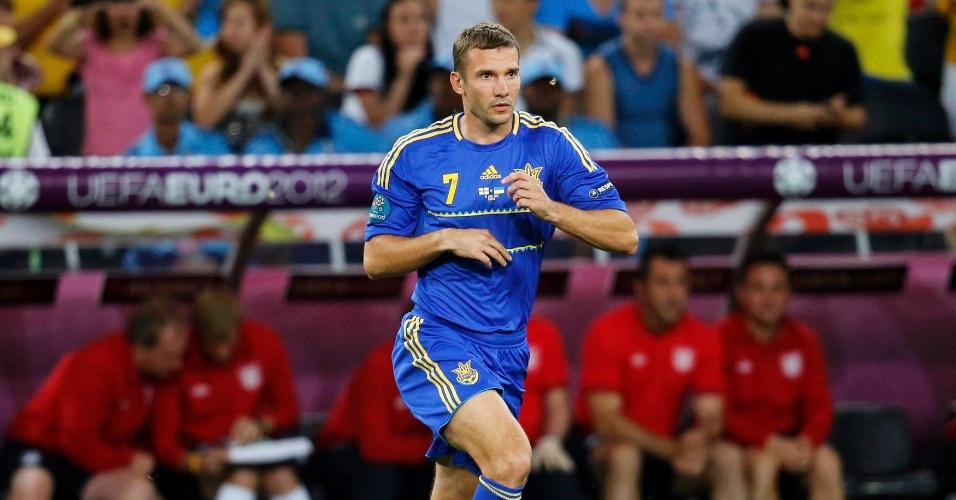 Shevchenko só entrou na segunda etapa e em nada pôde ajudar os ucranianos contra a Inglaterra