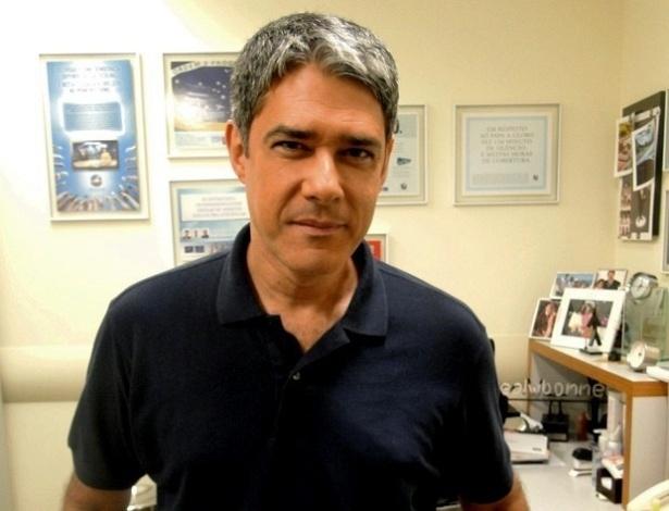 William Bonner em sua sala na TV Globo, no Rio de Janeiro (19/6/2012)