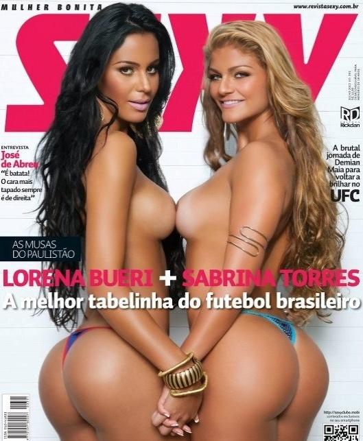 Capa da revista Sexy de julho com a gata do Paulistão 2012 Lorena Bueri