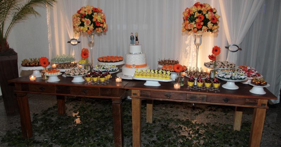 Mesa de doces da festa de aniversário da apresentadora Milene Domingues, em São Paulo (19/6/12)