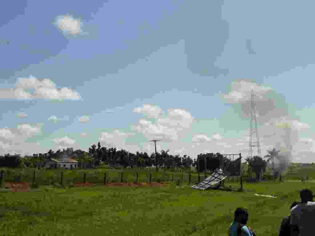 21.jun.2012- Fazenda Cedro, propriedade da Agropecuária Santa Bárbara Xinguara, em Eldorado dos Carajás, sudeste do Pará, é invadida por integrantes do Movimento dos Trabalhadores Sem Terra (MST) - Divulgação/Agropecuária Santa Bárbara