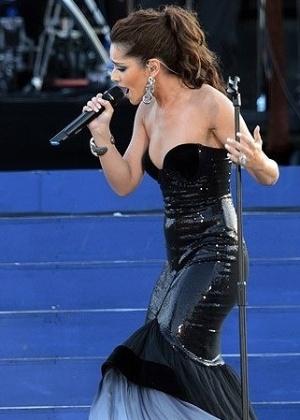 A cantora Cheryl Cole também agradeceu aos fãs após o último show - Getty Images