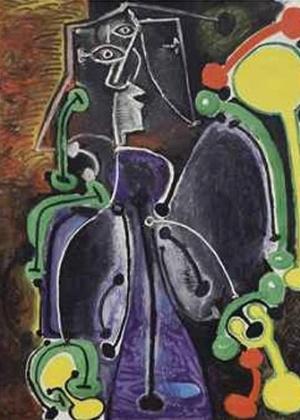"""""""Femme assise"""", de Picasso, é vendido por 8,5 milhões de libras em leilão - Reprodução"""