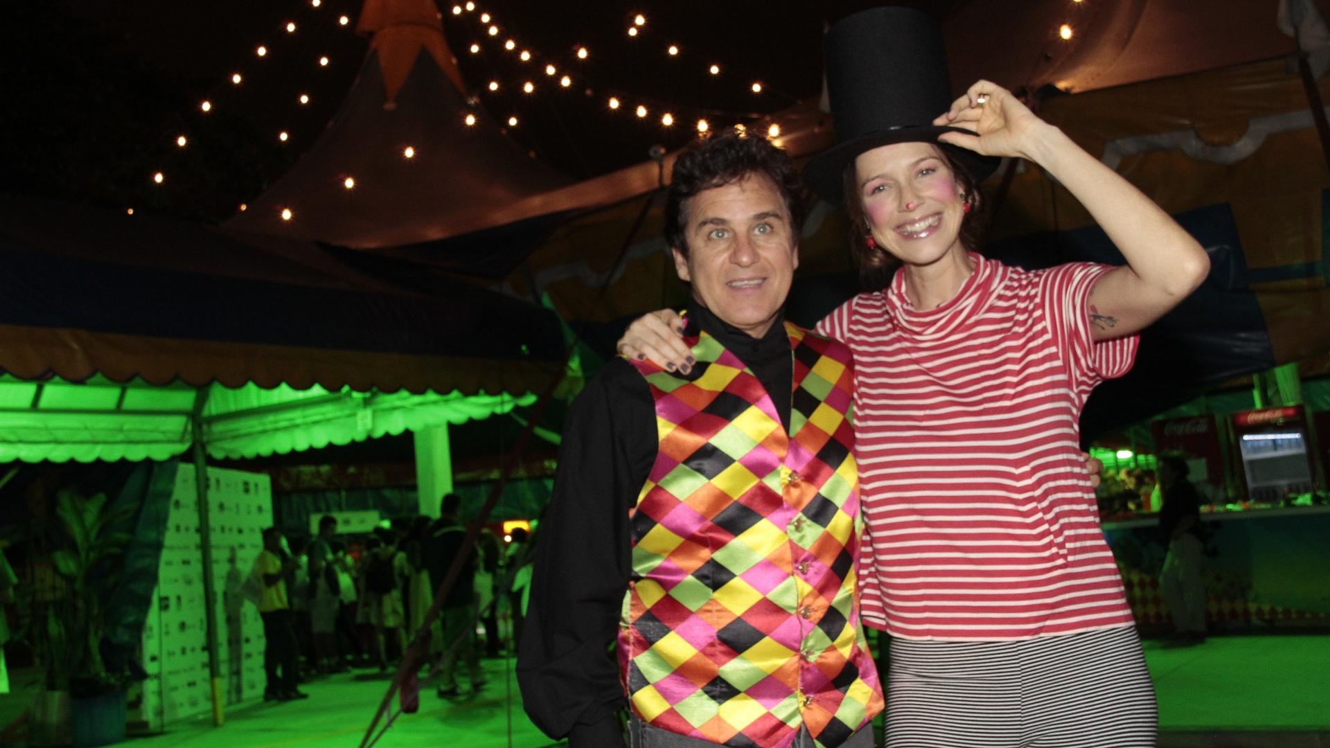 Luana Piovani e Marcos Frota apresentam a abertura do 1° Festival Internacional de Circo do Rio de Janeiro, na Quinta da Boa Vista (21/6/12)