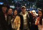 Ex-BBB's Fael, Jonas, João Maurício e Kelly se reencontram, em SP (Foto: Reprodução/Twitter)