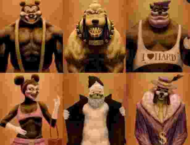 Personagens Disney redesenhados por Testosteronman - Montagem